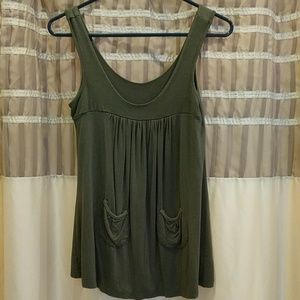 The limited olive green flowy top